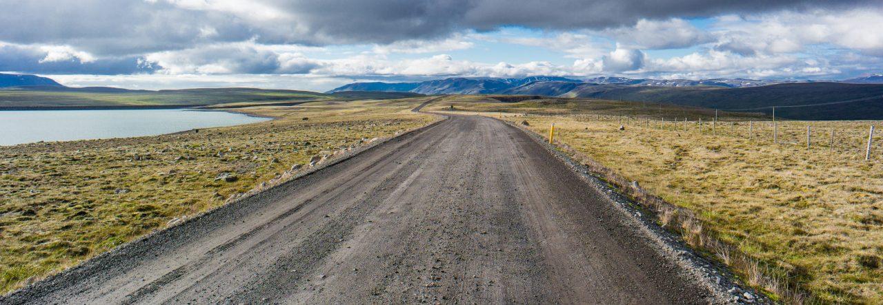 Islandia rowerem łubin